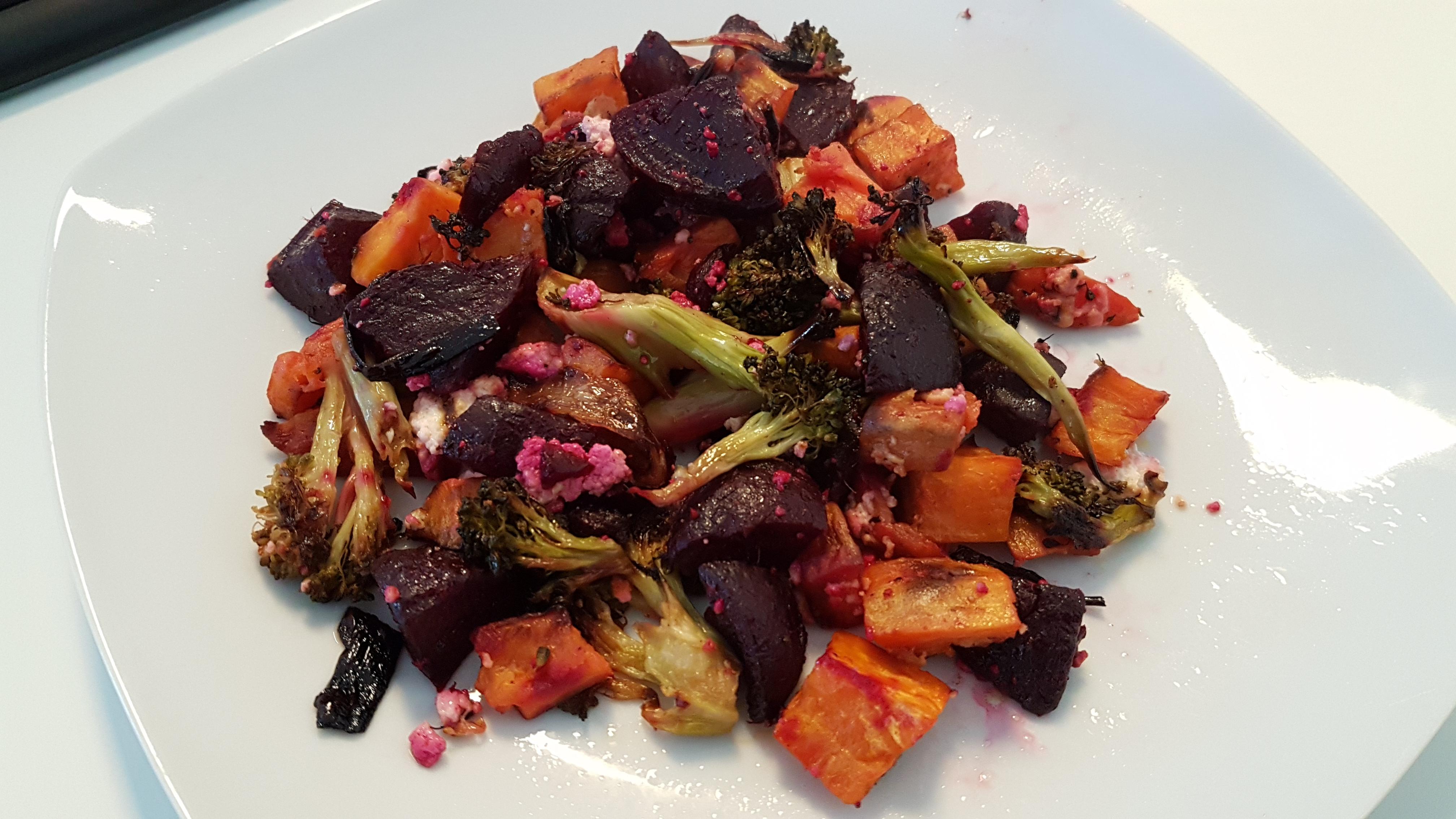 Gegrilde gezonde groenten