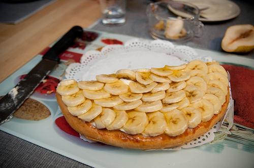 Gezonde bananentaart