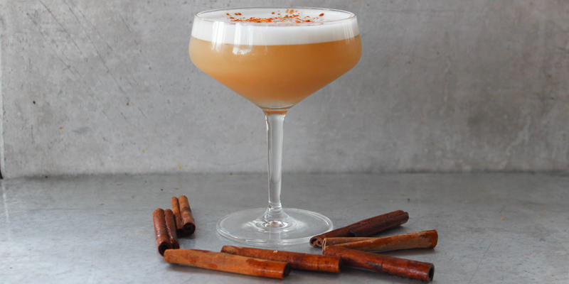 Apple Cider Bourbon Sour