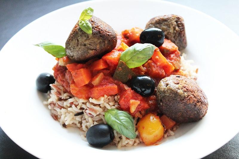 Champignonballetjes 'Provençale' met wilde rijst (Jeroen Meus)
