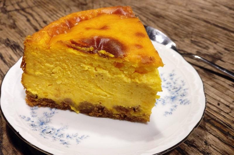 Cheesecake met pompoen en speculaas