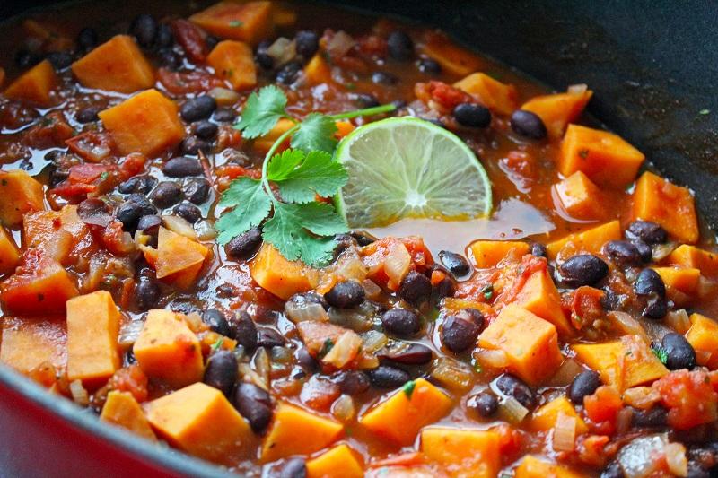 Chili van zwarte bonen