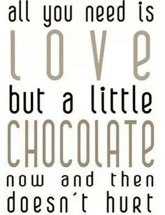 Even over chocolade…