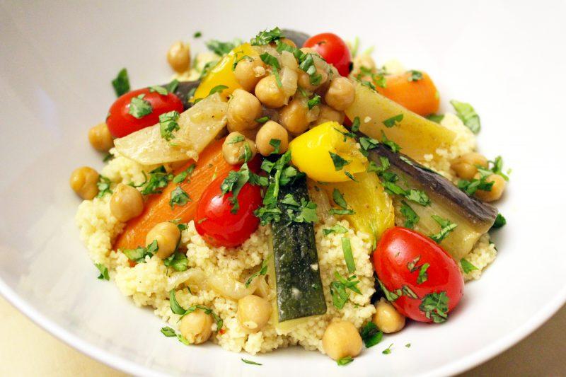 Couscous met zeven groenten