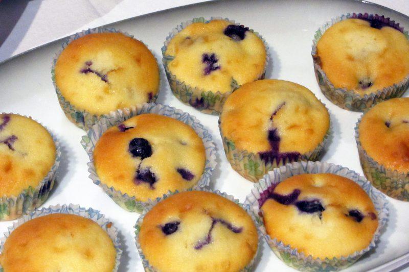 Cupcakes met blauwe bessen