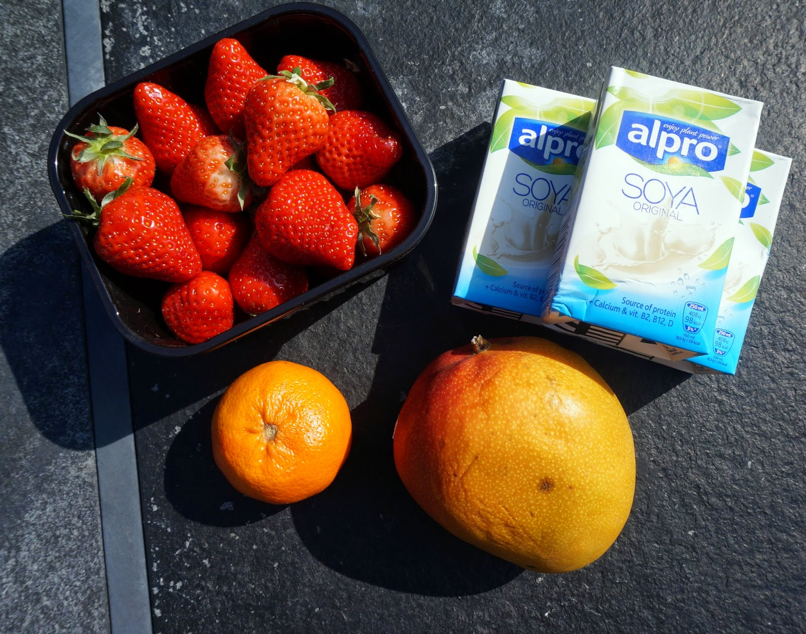 Zomerse soya smoothie