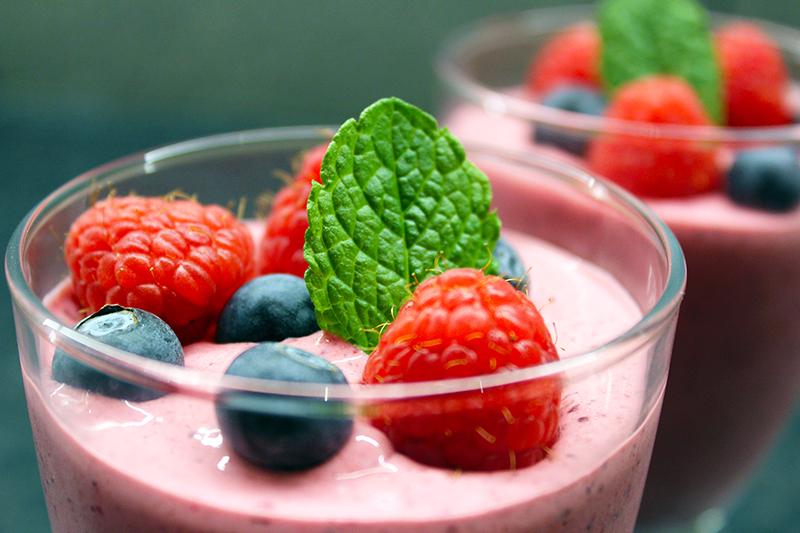 Frozen yoghurt van bosbessen