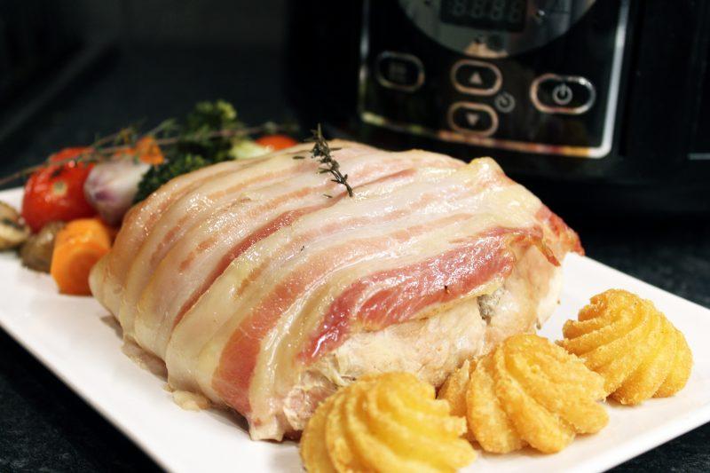 Gesmoord varkensgebraad (slow cooker)