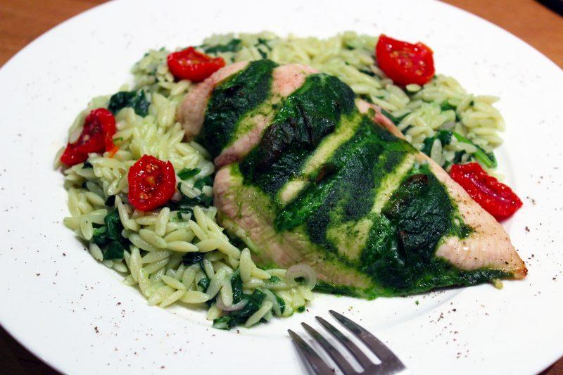 Gevulde kipfilet met spinazie en ricotta (Colruyt)