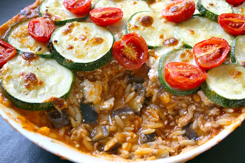 Griekse ovenschotel met gehakt en aubergine (Colruyt)