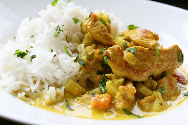 Kip met rijst en curry (Piet Huysentruyt)
