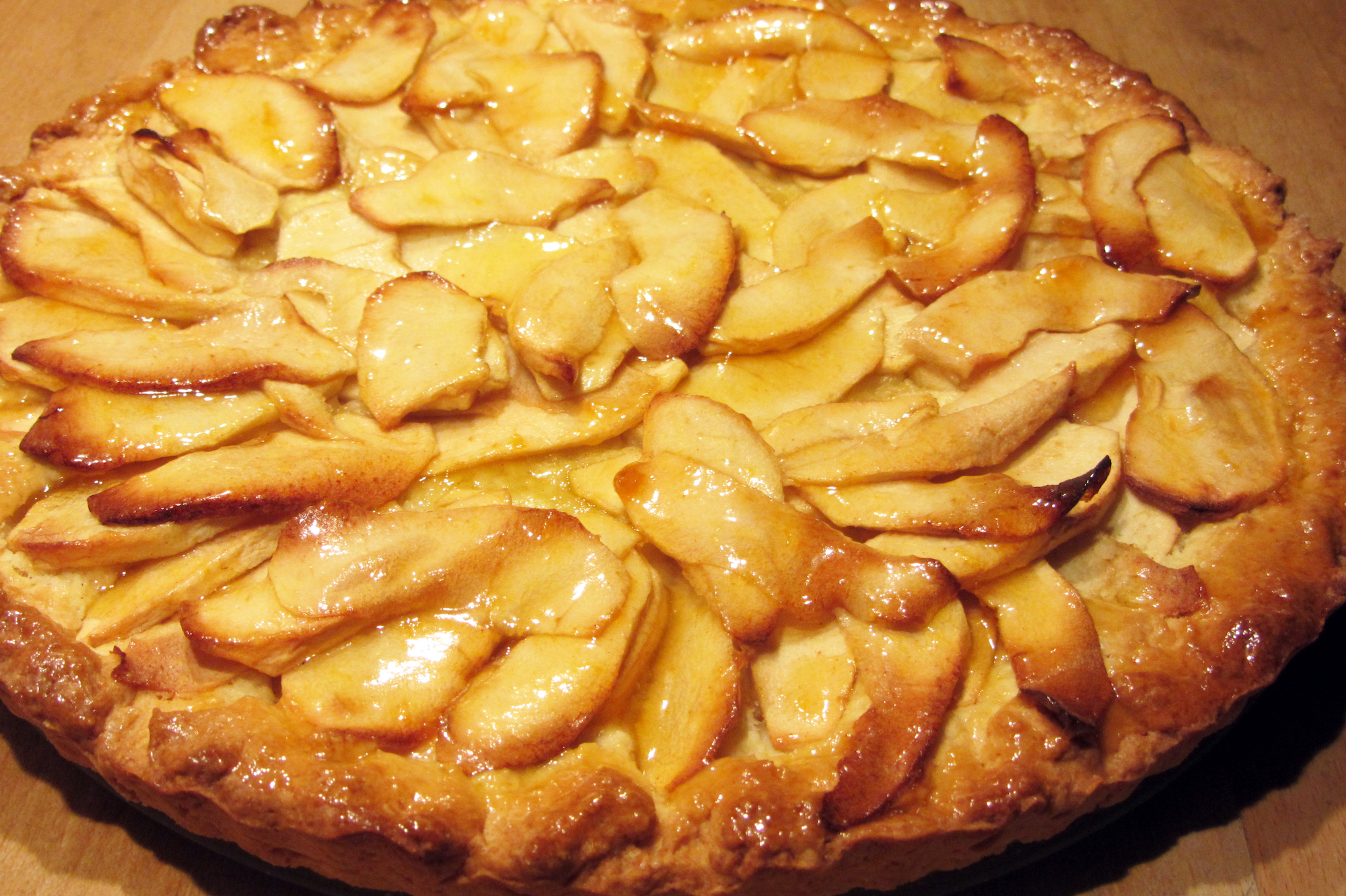 Landelijke appeltaart