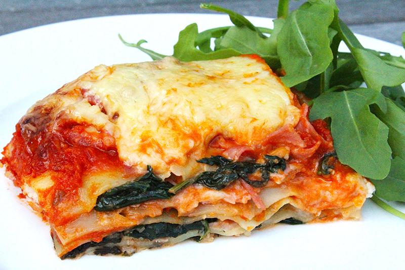 Lasagne met ham en spinazie (Jeroen Meus)