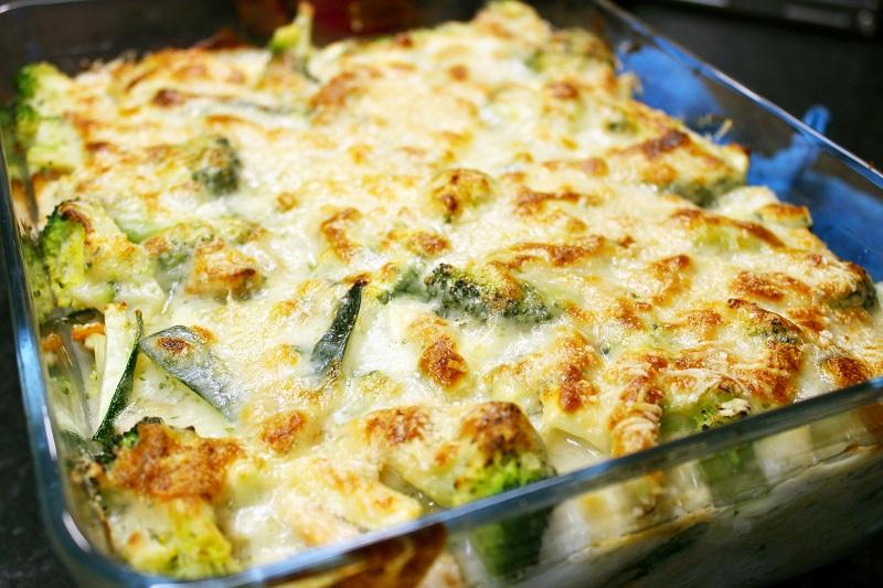 Lasagne met kabeljauw, garnalensaus en broccoli (Colruyt)