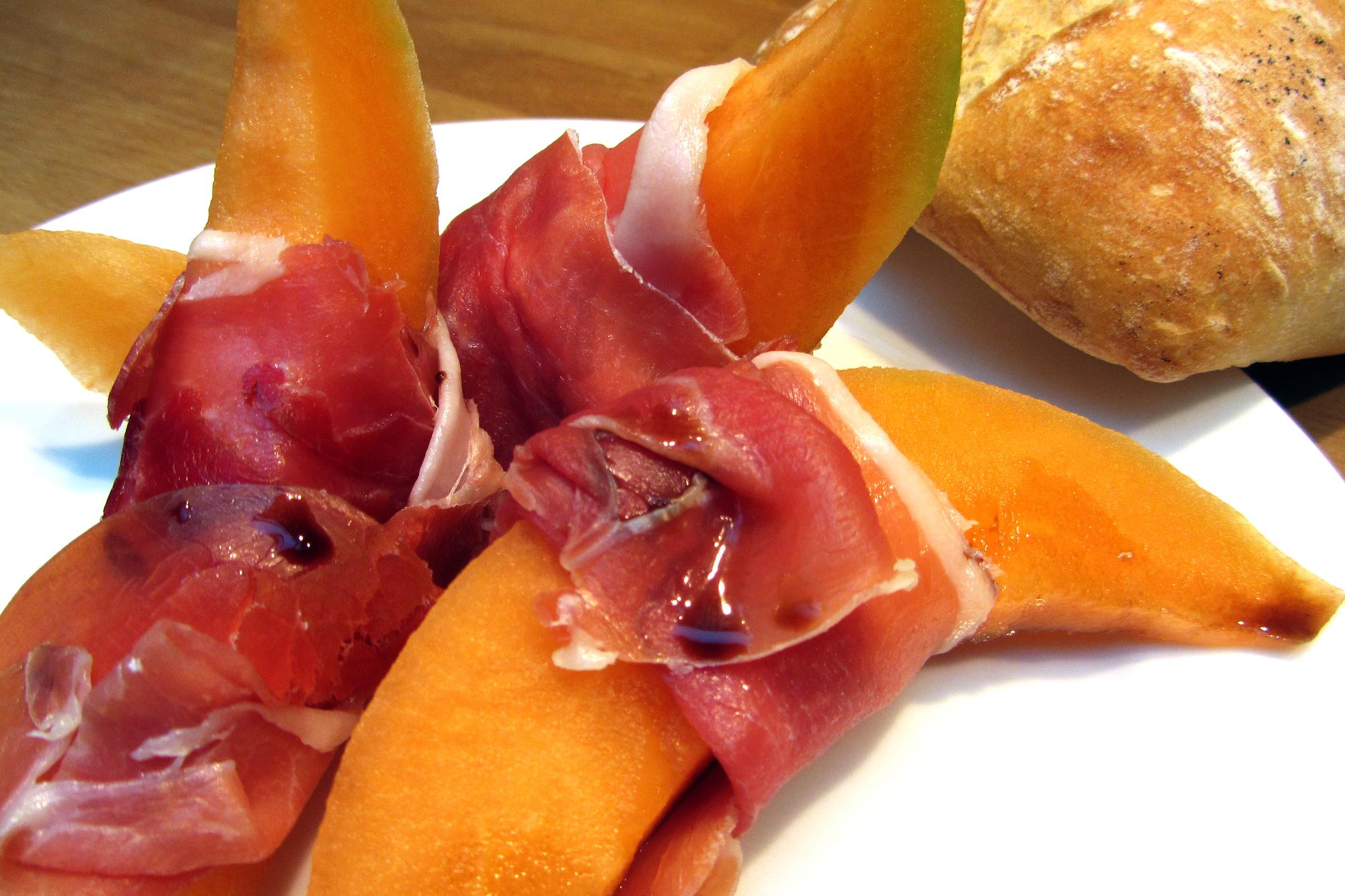 Meloen met Prosciutto di Parma