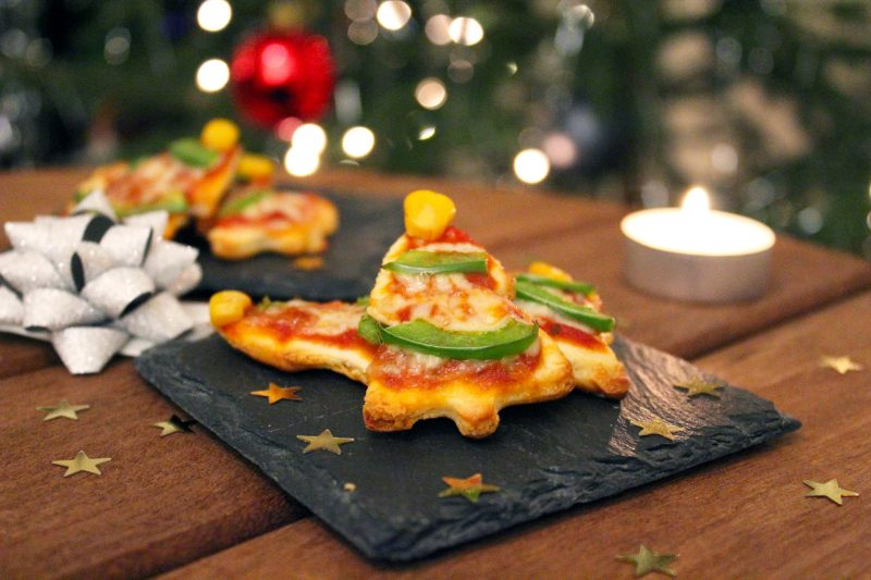 Mini-kerstpizza's