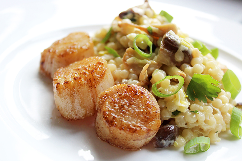 Oosterse parelcouscous met coquilles (Colruyt)