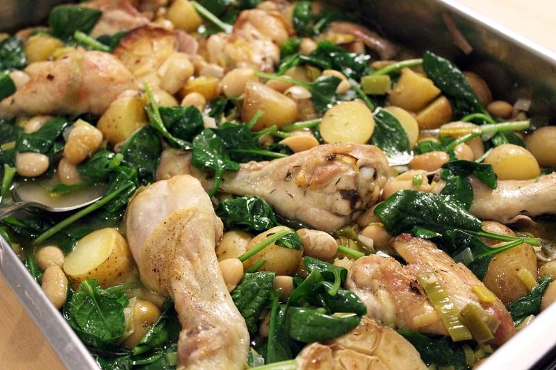 Ovenschotel met kip en spinazie (Gordon Ramsay)