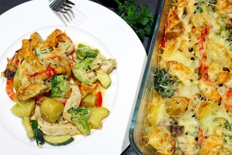 Ovenschotel met kipfilet en Boursin