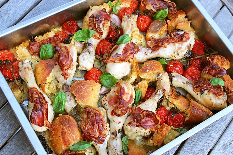 Ovenschotel met kippenbouten (Jamie Oliver)
