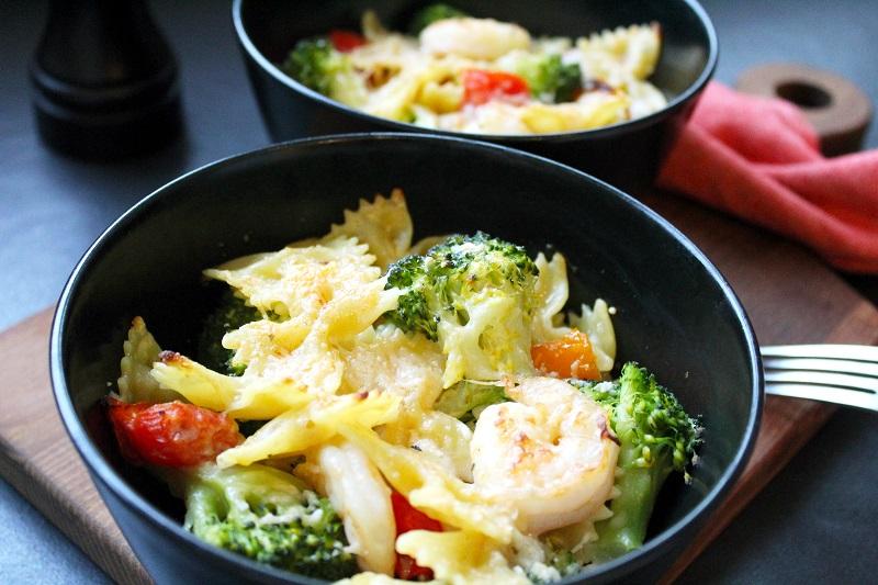 Scampi's met broccoli en farfalle (Colruyt)