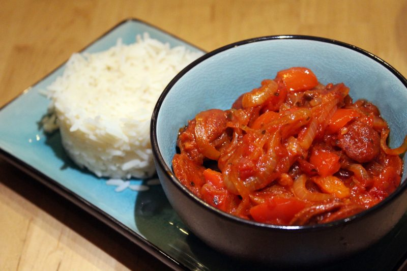 Snelle goulash met chorizo