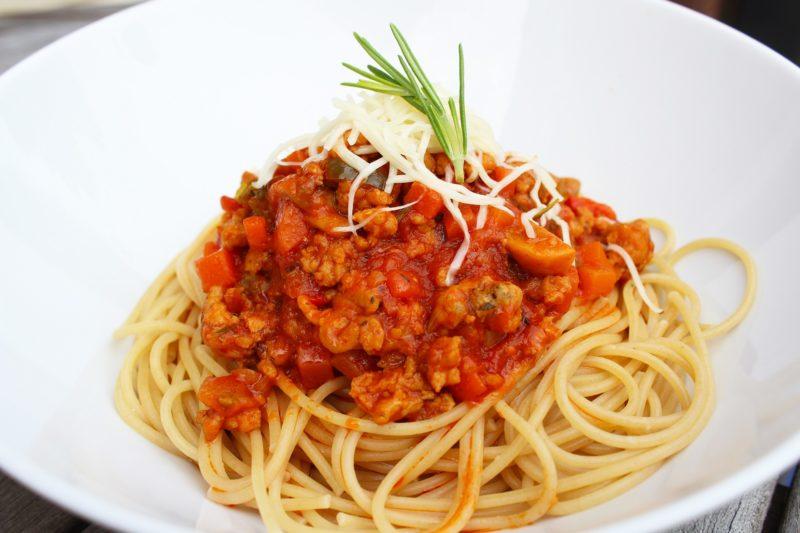 Spaghetti met kippengehakt (Jeroen Meus)