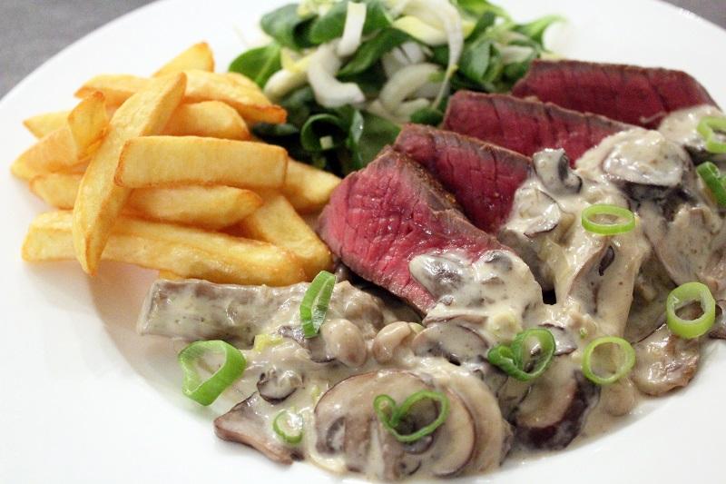 Steak archiduc met witloofslaatje (Colruyt)