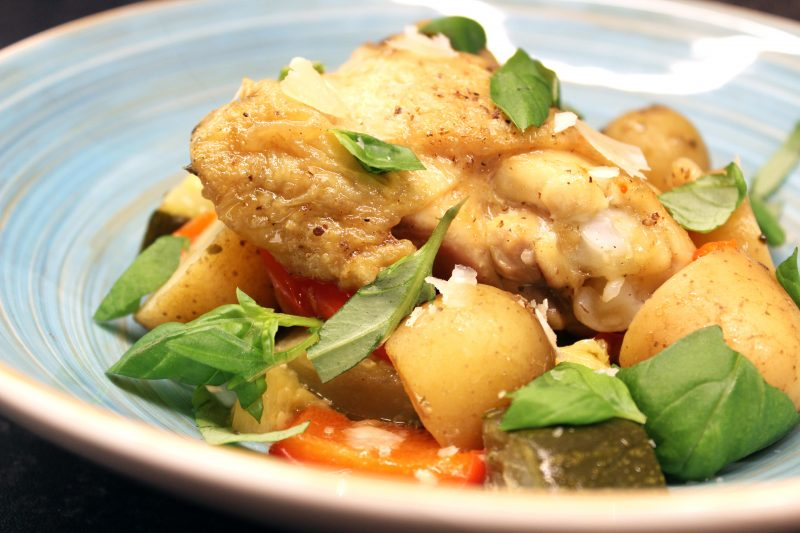 Toscaanse kip in crockpot (slowcooker)