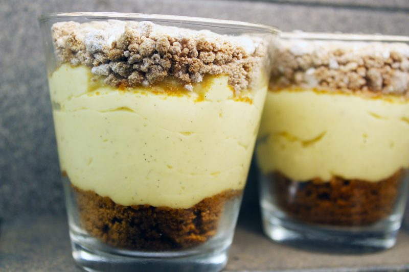 Vanillepudding met speculaascrumble
