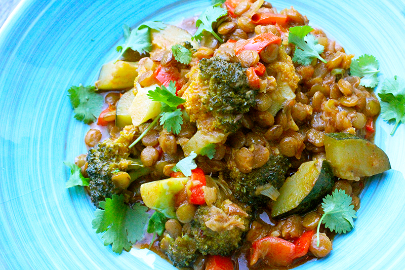 Vegetarische linzencurry