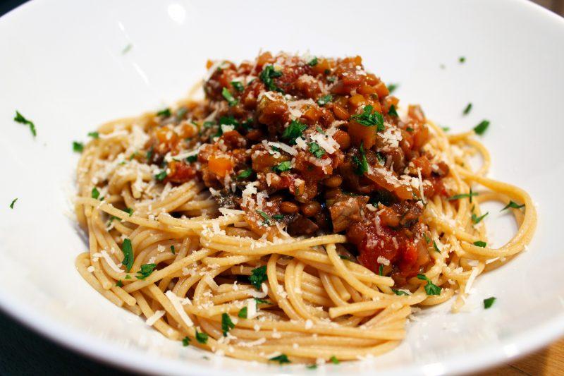 Vegetarische spaghetti bolognese met linzen (Jamie Oliver)