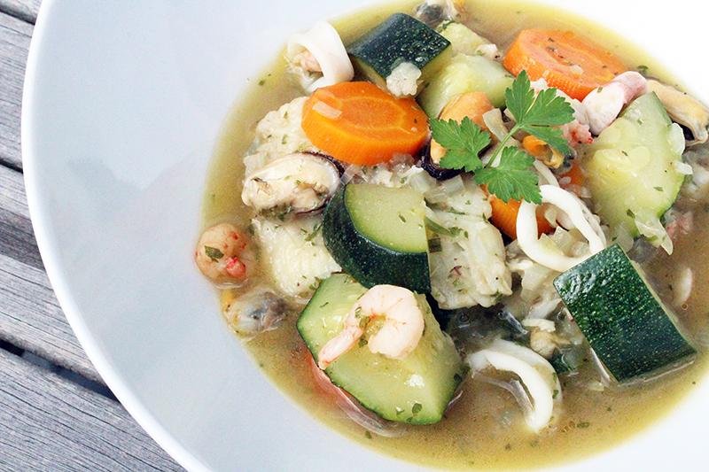 Vissersstoofpotje met kabeljauw en zeevruchten (Colruyt)