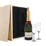 Valentijn Moët Champagne Glazen